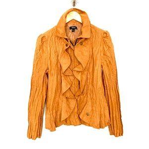 Flair Crinkle Effect Zip Front Jacket.